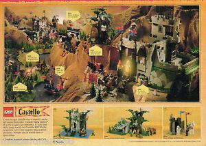 Pubblicita-Advertising-1990-LEGO-Castello-Fortezza-e-grotta-degli-arcieri