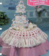 """CAKE & TABLECLOTH""~Crochet PATTERN~PATTERN ONLY for BARBIE FASHION DOLL"