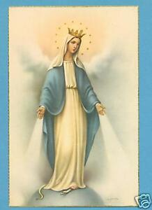 VINTAGE-Catholic-Large-holy-card-Postcard-MARY-Our-Lady-of-Grace