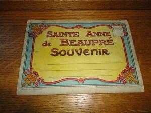 Antique 1930's Sainte Anne de Beaupre Catholic Shrine Quebec Souvenir Booklet