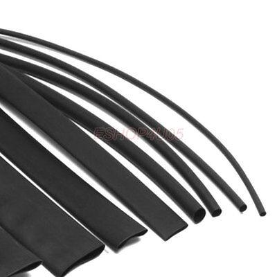 Dia.1mm-20mm Weatherproof Heatshrink Tubing Heat Shrink Sleeving Black LOT