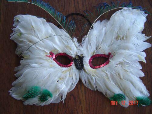 Vintage Feathery Masquerade Mask (2)