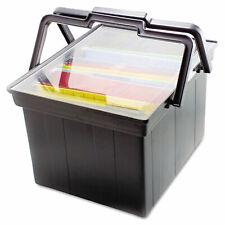 Advantus Companion Portable File Storage Box Legalletter Plastic Black Tlf2b