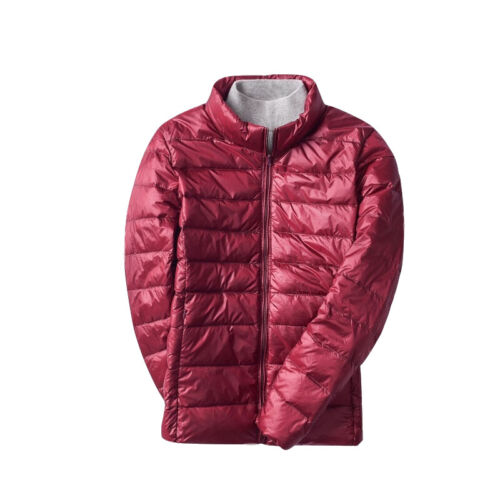 Lady Quilted Jacket Down Coat Shiny Warm Winter Puffer Padded Top Outwear Casual