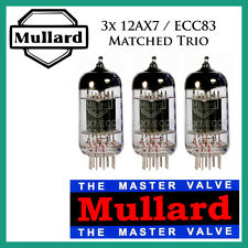 New 3x Mullard 12AX7 / ECC83 | Matched Trio / Set / Three Tubes | Free Ship