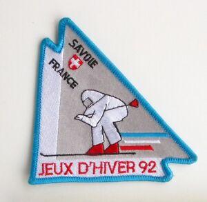 Ancien Ecusson brodée - Jeux d'Hiver 92 - Savoie France - Jeux olympiques Hiver EfhQc8JJ-08023905-521970636