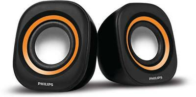 Philips Orange & Black SPA25G/94 Speaker For Laptop / Desktop With warty