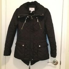 Bcbgeneration Black Hooded Quilted Women's Anorak Jacket Size small