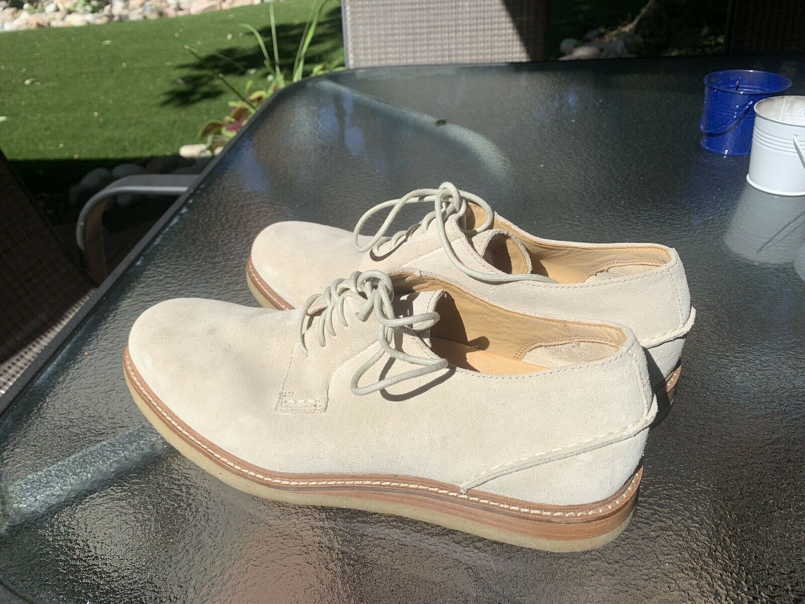 Men's Sperry Gold Cup White Suede Bucks Oxfords S… - image 3
