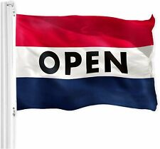Open Flag Red White Blue Store Banner Advertising Business Sign 3x5