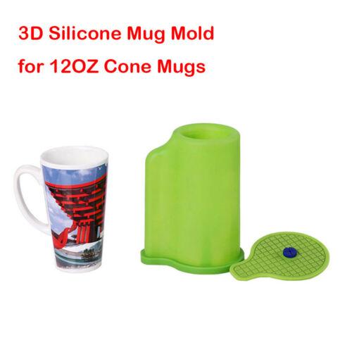 3D Sublimation Silicone Mold Mug Clamp for 12OZ Cone Mugs Heat Transfer Print