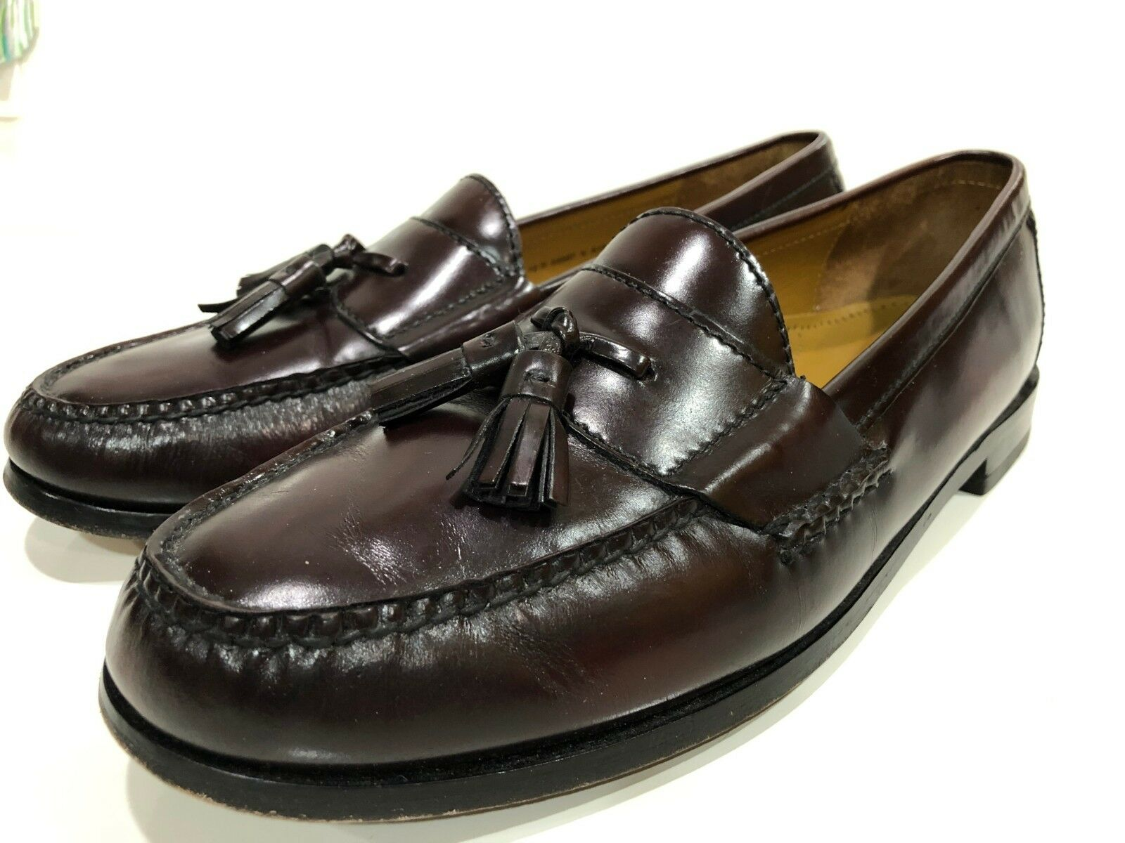 Cole Haan Men's Pinch Tassel Loafer Burgundy shoes Size 12 D
