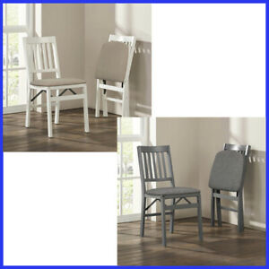 2 Pack Stakmore Solid Wood Folding Chair 2 Color Padded