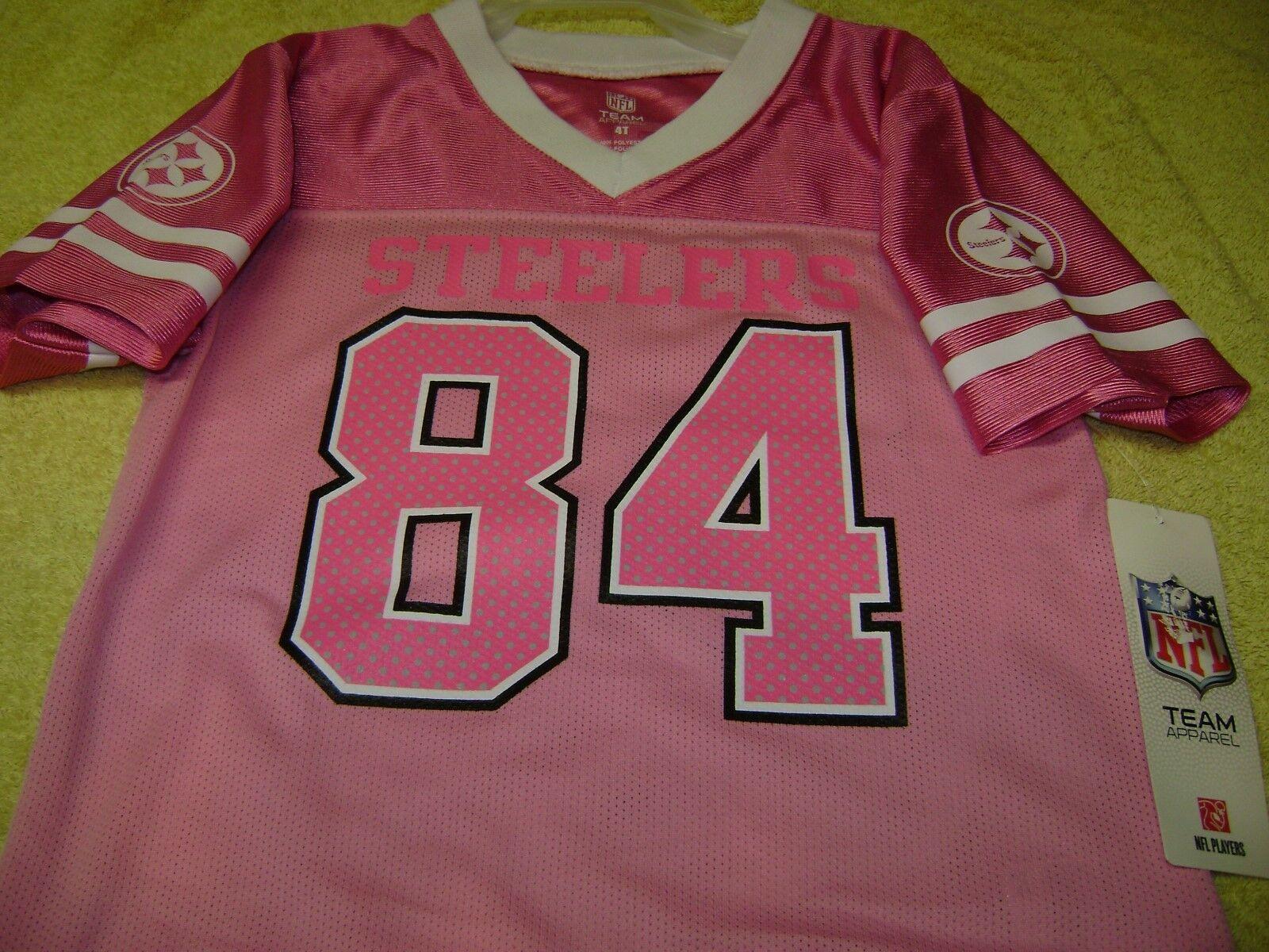 da5b7ae1842 Pittsburgh Steelers NFL   84 Antonio Brown Pink Jersey Size Girls 3t ...
