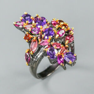 Amethyst Ring 925 Sterling Silver Size 8.25 /RT20-0071