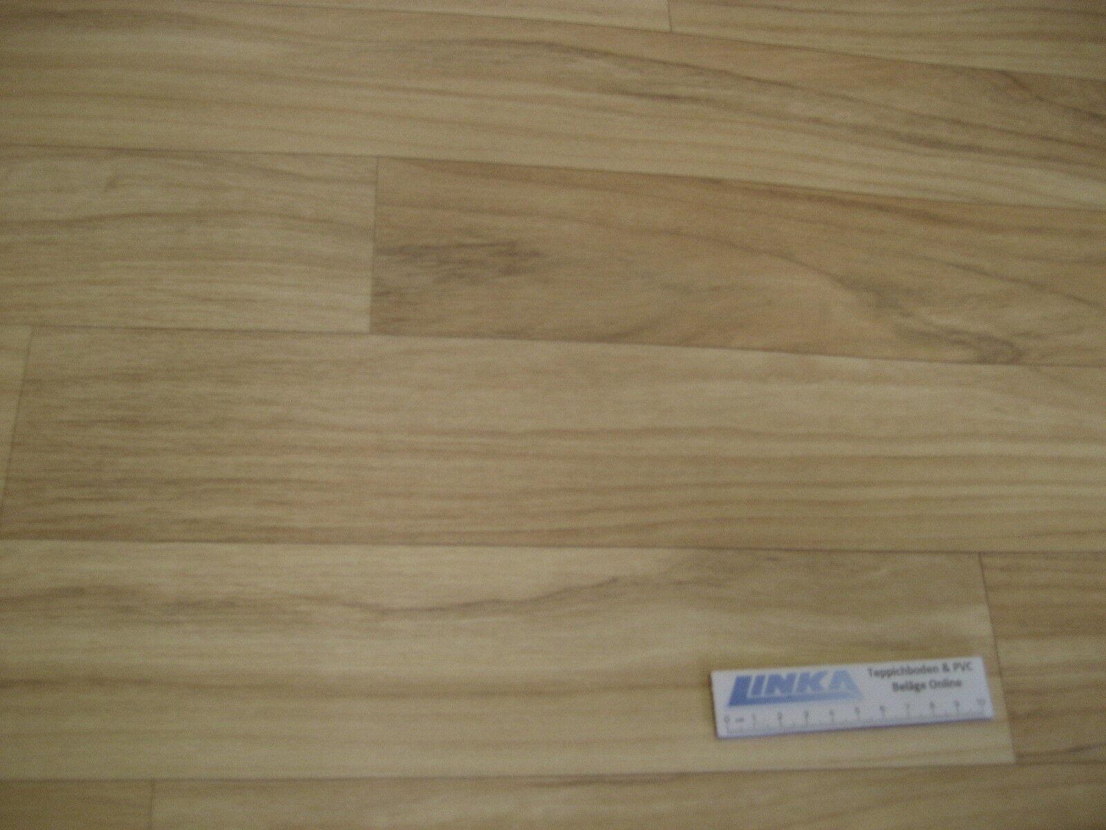 5966 PVC CV Belag Rest 336x200 Boden Bodenbelag robust Wildkirsche Holz-Dekor