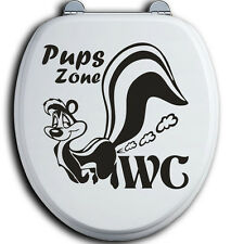 Pups Zone WC Deckel Toilettendeckel Bad Klo Aufkleber Sticker Tunin Wandtattoo 1