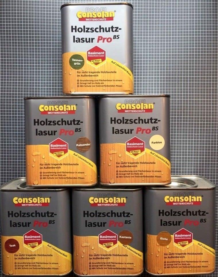 AKTION  Consolan Profi Holzschutzlasur PRO BS Lasur alle   Liter  Holzlasur