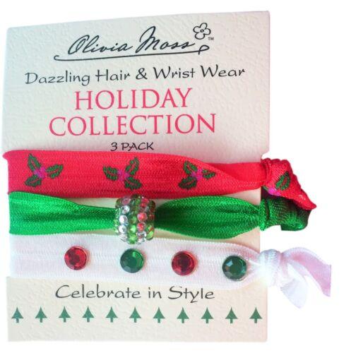 Olivia Moss Christmas Hair And Wrist Ties Pony Tail Holders Holiday Bracelets