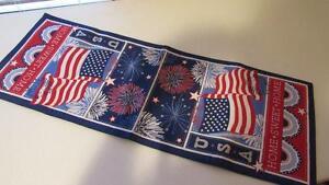 July-4-Memorial-Day-Americana-Red-White-Blue-Stars-Stripes-Table-Runner-36-034-NEW