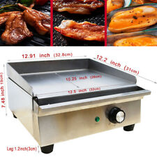 Electric Countertop Griddle 12kw Restaurant Kitchen Flat Top Grill Bbq Cooker