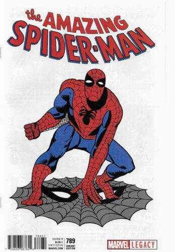 AMAZING SPIDERMAN 789 STEVE DITKO T-SHIRT 1:50 VARIANT NM SOLD OUT