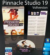 Pinnacle Studio 19 VERSIONE COMPLETA BOX + DVD video software + manuale (PDF) OVP NUOVO