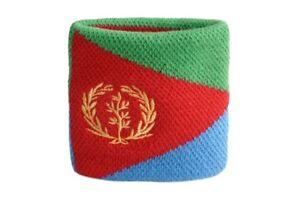 Schweisband-Drapeau-Drapeau-Eritrea-2er-Set-7x8cm-bracelet-de-sport