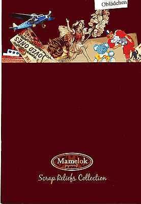 Systematisch # Glanzbilder # Katalog Der Firma Mlp 1 Bogen mamelok Papercraft, Selten !!