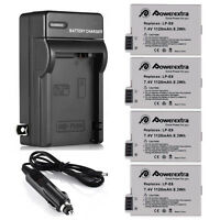 Lp-e8 Battery (4 Pack)+ Charger For Canon Rebel T2i T3i T4i T5i Kiss X5 Eos 550d