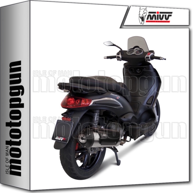 MIVV FULL SYSTEM EXHAUST HOM URBAN PIAGGIO BEVERLY TOURER 250 2008 08 2009 09