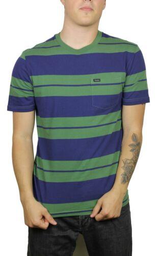 Brixton Mens Hilt Pocket Knit S//S T-Shirt Leaf Patriot Blue M New