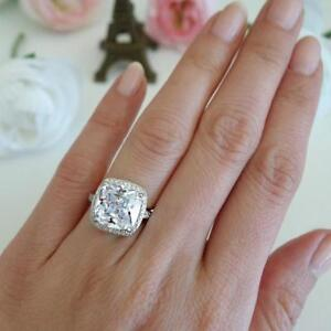Details About Big 5 Carat Diamond Cushion Cut Celebrity Engagement Rings Inspired Bridal Gift