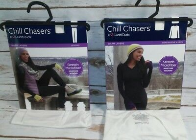 Chill Chasers Cuddl Duds  Fleece with stretch leggings warm layers NEW
