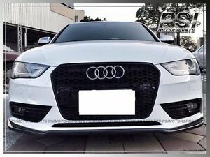 Details About Audi A4 B8 2013 2015 Facelift Model Only P Style Carbon Fiber Front Lip