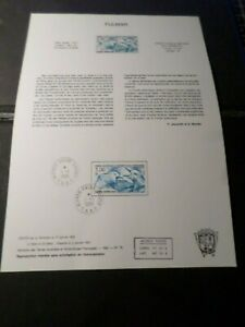 TAAF-DOCUMENT-NOTICE-FDC-1986-timbre-115-OISEAUX-FULMAR-BIRDS