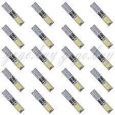 20x White 6000K 58 70 73 74 T5 Dashboard Gauge 2 5630 SMD LED Wedge Bulb Light