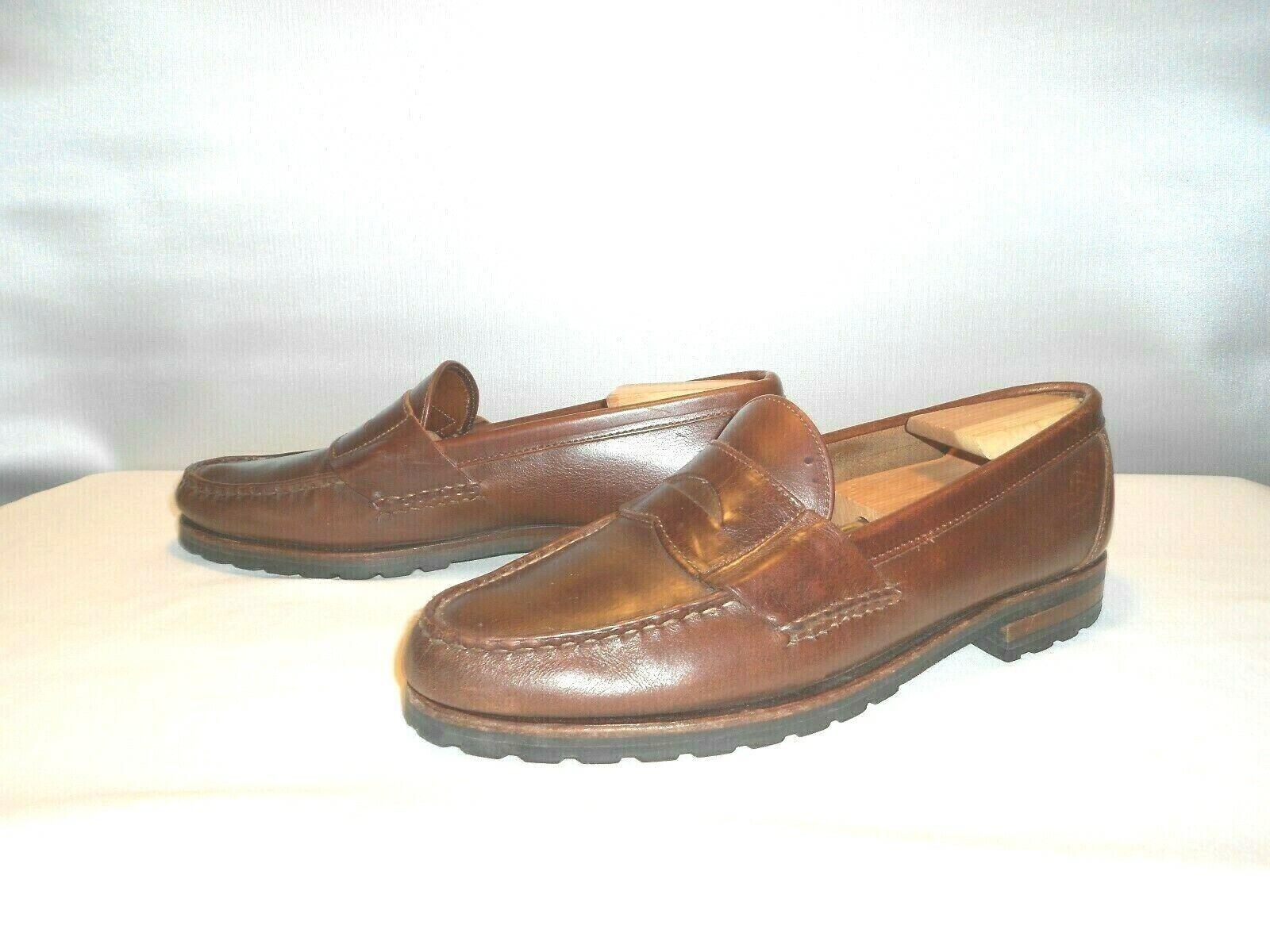 Leather Men/'s Shoes Size 10D Size 10D Allen Edmonds Penny Loafers Allen Edmonds Men/'s Dress Shoes Brown Black Casual Penny Loafers