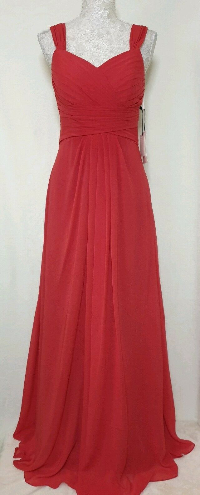 MicBridal Dress   Size S   Pink   Pleated   Long   Prom Bridesmaid Wedding BNWT