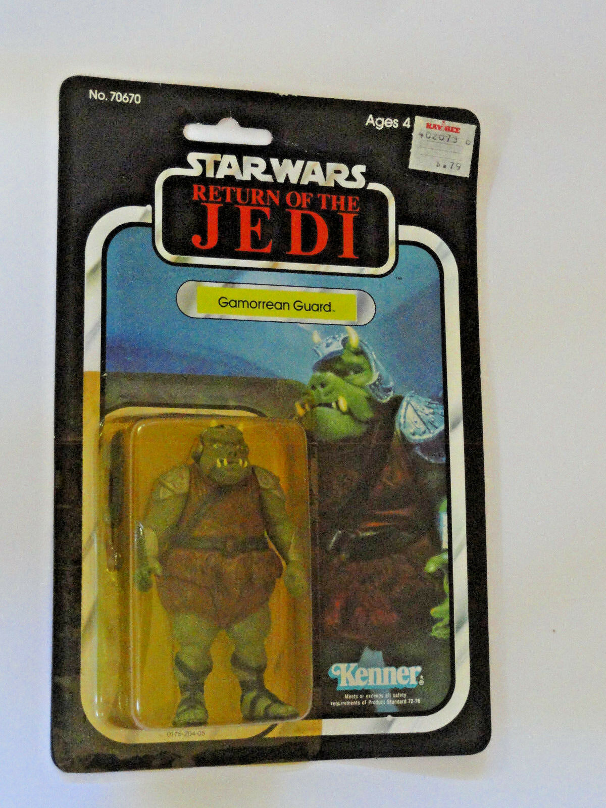 STAR WARS GAMORREAN GUARD le retour du jedi Comme neuf on card