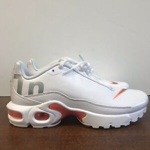 huge selection of e9a4e 5eae8 Details about Nike Air Max Plus TN White/Orange Running Shoes AR0005-100  Size 5.5Y Women's 7