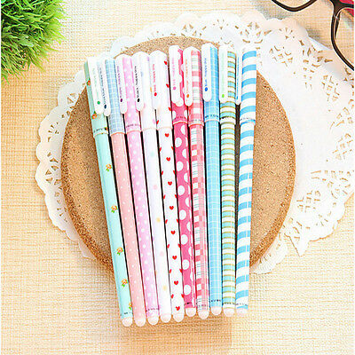 10pcs Gel pen Kawaii Stationery korean Flower Style For Office And School