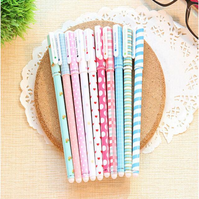 10PCS Colorful Gel Pen Set Kawaii Korean Stationery Creative School Gel Pen Set