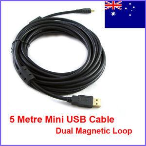 Premium-5-Metre-USB-2-0-Type-A-to-Mini-B-5-Pin-Mini-USB-Data-Cable-AU