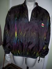 Vintage 80s 90s Surf Style Windbreaker ALL OVER Jacket Ski Neon Crazy Nylon