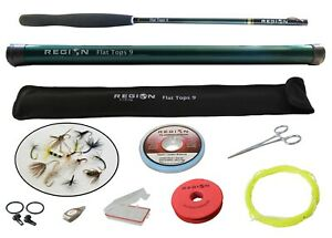 Tenkara-Fly-Rod-Flat-Tops-9-039-Travel-Rod-w-Starter-Kit-Japanese-Carbon-Fiber