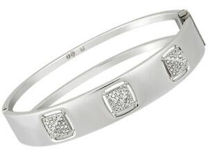 Swarovski-Tactic-Plaque-Rhodium-Pave-Cristal-Femmes-Charniere-Bracelet-M-5033035