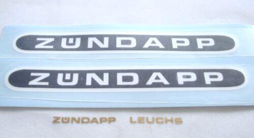 Zündapp autocollant réservoir 517 1,5 x 13 cm Noir//Blanc