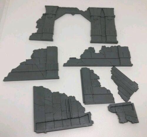Construção de cenário Ruínas Lord Of The Rings Sem Pintura Bits De Plástico Completo Lotr