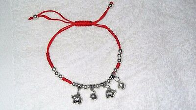 Starfish Red Woven Cord Adjustable Bracelet Anklet Jewelry Cool Hip Cotton Bells